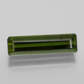 1.4ct Octagon Facet Earthy Green Tourmaline Gem (ID: 364142)