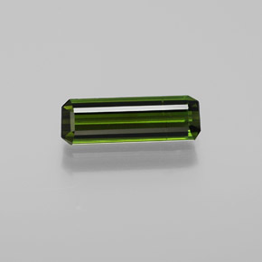 1.3ct Octagon Facet Deep Green Tourmaline Gem (ID: 365077)