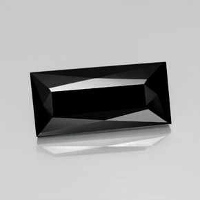 Black Tourmaline Gem - 27ct Baguette / Scissor Cut (ID: 365125)
