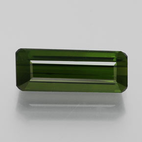 1.4ct Octagon Facet Forest Green Tourmaline Gem (ID: 365165)