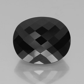 Black Tourmaline Gem - 39.7ct Oval Checkerboard (ID: 366209)