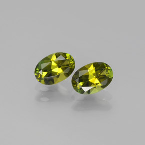 0.5ct Oval Facet Yellowish Green Tourmaline Gem (ID: 378235)