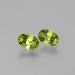 0.4ct Oval Facet Yellowish Green Tourmaline Gem (ID: 378430)