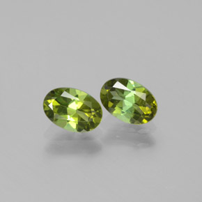 Yellowish Green Tourmaline Gem - 0.5ct Oval Facet (ID: 378531)