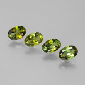 Earth Green Turmalina Gema - 0.4ct Forma ovalada (ID: 378797)