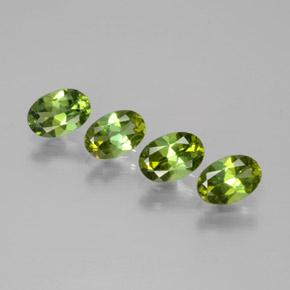 0.4ct Oval Facet Seaweed Green Tourmaline Gem (ID: 378803)