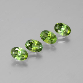 Yellowish Green Tourmaline Gem - 0.4ct Oval Facet (ID: 378807)
