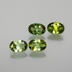 0.4ct Oval Facet Yellowish Green Tourmaline Gem (ID: 378862)