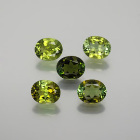0.6ct Oval Facet Seaweed Green Tourmaline Gem (ID: 378867)