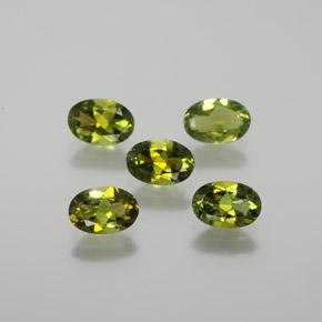 0.4ct Oval Facet Yellowish Green Tourmaline Gem (ID: 378868)