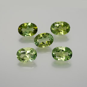 Medium Green Tourmaline Gem - 0.7ct Oval Facet (ID: 378869)
