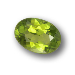 0.7ct Oval Facet Lively Green Tourmaline Gem (ID: 378879)
