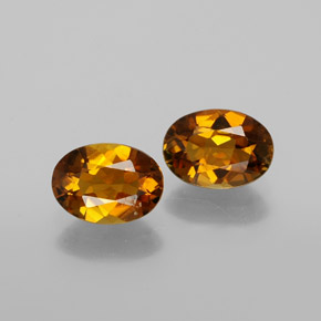 Deep Orange Tourmaline Gem - 0.8ct Oval Facet (ID: 379073)