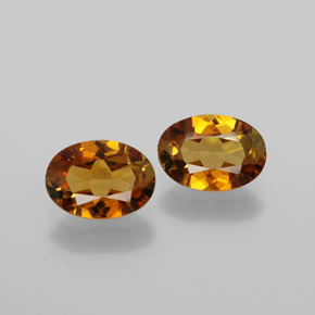 0.7ct Oval Facet Golden Orange Tourmaline Gem (ID: 379077)