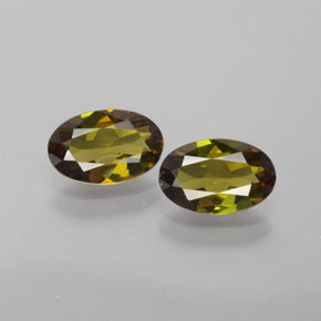 1ct Oval Facet Yellowish Brown Green Tourmaline Gem (ID: 379222)