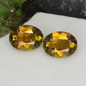 1.2ct Oval Facet Greenish Golden Tourmaline Gem (ID: 379223)