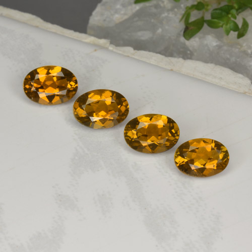 Bright Golden Brown Tourmaline Gem - 0.8ct Oval Facet (ID: 379294)