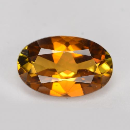 Medium-Dark Orange Tourmaline Gem - 1ct Oval Facet (ID: 379462)