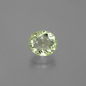 1.81 ct Oval Facet Green Tourmaline Gemstone 7.85 mm x 7 mm (Product ID: 379682)