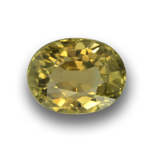 1.2ct Oval Facet Yellowish Green Tourmaline Gem (ID: 379688)