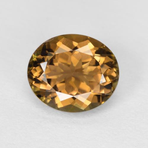 Light Cedar Brown Turmalina Gema - 0.9ct Forma ovalada (ID: 380450)