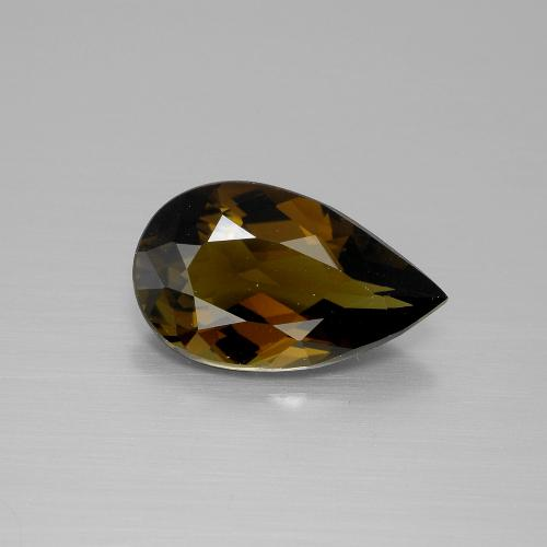 2.36 ct Pear Facet Warm Brown Tourmaline Gemstone 12.34 mm x 7.4 mm (Product ID: 388139)