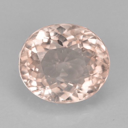 2.2ct Oval Facet Salmon Pink Tourmaline Gem (ID: 389134)