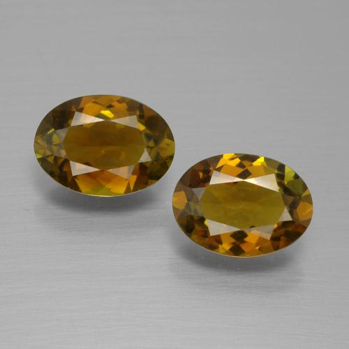 Caramel Brown Turmalin Edelstein - 1.1ct Oval facettiert (ID: 389867)