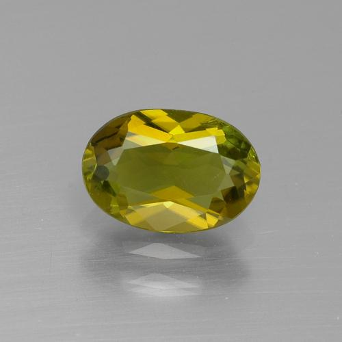 1.1ct Oval Facet Yellowish Green Tourmaline Gem (ID: 390131)