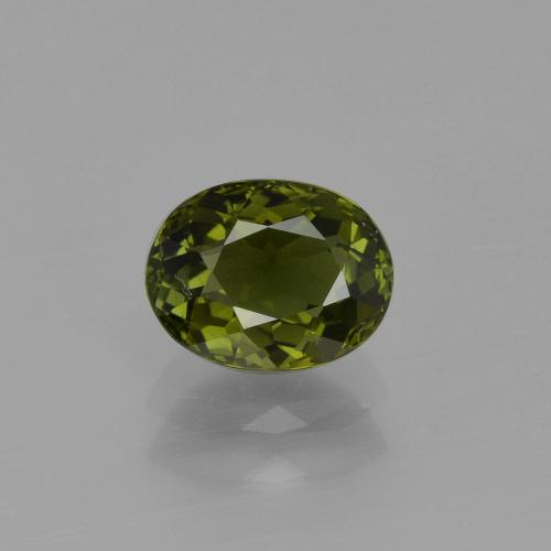 1ct Oval Facet Forest Green Tourmaline Gem (ID: 401308)