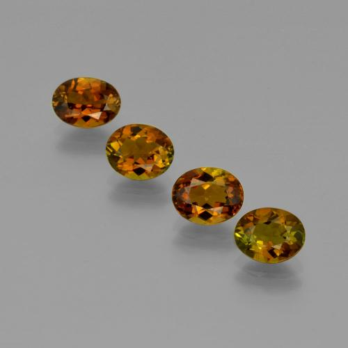 Deep Brown to Reddish Golden Turmalina Gema - 0.9ct Forma ovalada (ID: 401650)