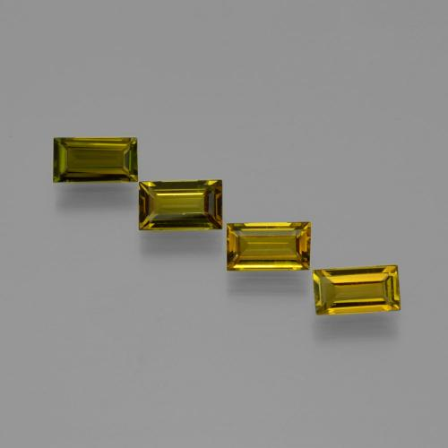 Golden Brown Tourmaline Gem - 0.5ct Baguette Facet (ID: 401652)