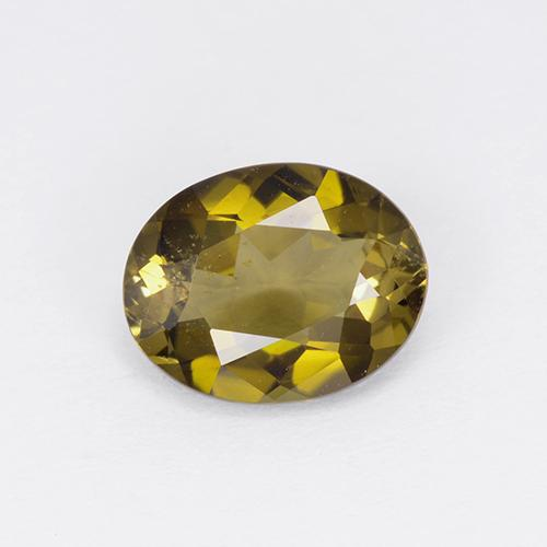 Golden Greenish Brown Turmalin Edelstein - 1.4ct Oval facettiert (ID: 401761)