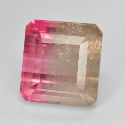 thumb image of 13.1ct Octagon Step Cut Bi-color Tourmaline (ID: 402789)