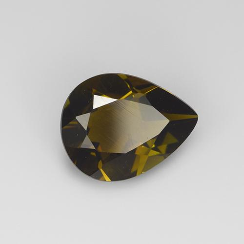 Earthy Gold Tourmaline gemme - 1.6ct Poire facette (ID: 405940)