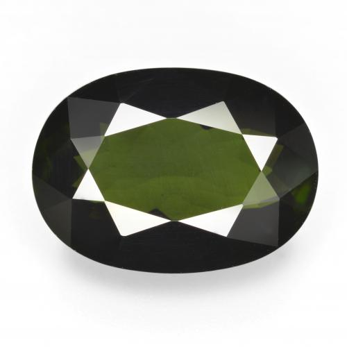 14.01 ct Oval Facet Green Tourmaline Gemstone 18.50 mm x 13.3 mm (Product ID: 412591)