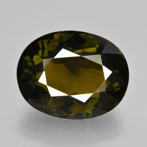 12.36 ct Oval Facet Golden Green Tourmaline Gemstone 16.37 mm x 13 mm (Product ID: 412592)