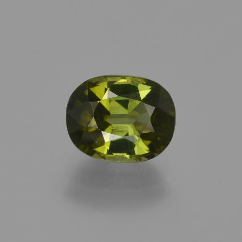 1.2ct Oval Facet Forest Green Tourmaline Gem (ID: 412946)