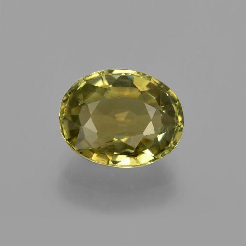 1.5ct Oval Facet Earthy Green Tourmaline Gem (ID: 412953)