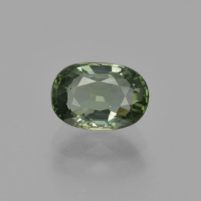 1.2ct Oval Facet Forest Green Tourmaline Gem (ID: 413062)