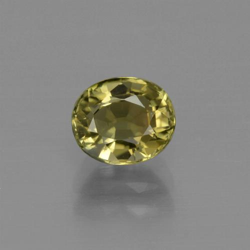 1ct Oval Facet Brownish Green Tourmaline Gem (ID: 413151)