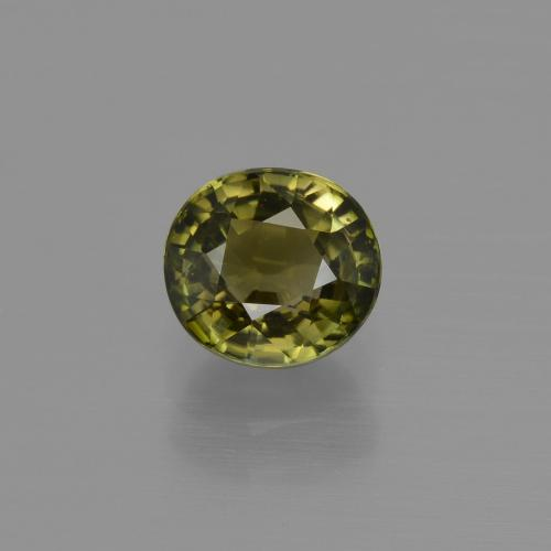 1.1ct Oval Facet Brownish Green Tourmaline Gem (ID: 413156)