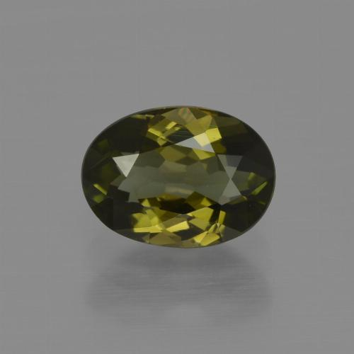 1.1ct Oval Facet Brownish Green Tourmaline Gem (ID: 413162)