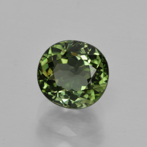 1.4ct Oval Facet Forest Green Tourmaline Gem (ID: 413294)