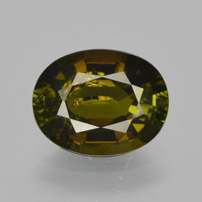 Green with Golden Brown Tourmaline Gem - 1.8ct Oval Facet (ID: 413325)
