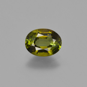 0.7ct Oval Facet Brownish Green Tourmaline Gem (ID: 413358)