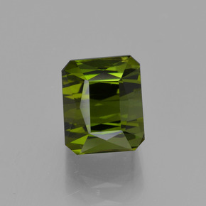2.68 ct Octagon / Scissor Cut Yellowish Green Tourmaline Gemstone 7.35 mm x 6.1 mm (Product ID: 413785)