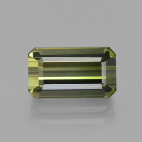 2.51 ct Octagon Facet Yellowish Green Tourmaline Gemstone 9.95 mm x 5.9 mm (Product ID: 413786)
