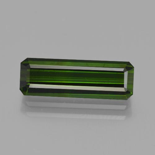 2.89 ct Octagon Facet Yellowish Green Tourmaline Gemstone 15.25 mm x 5.1 mm (Product ID: 413791)