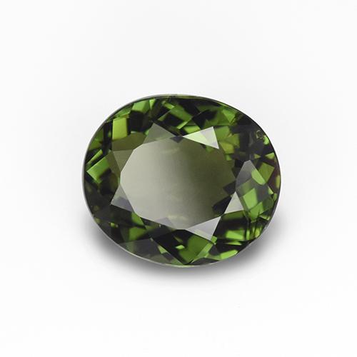 1.5ct Oval Facet Yellowish Green Tourmaline Gem (ID: 415164)